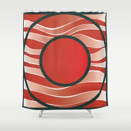 Shiny Japan Sun on Uranus Shower Curtain