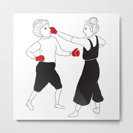 Women boxing Metal Print