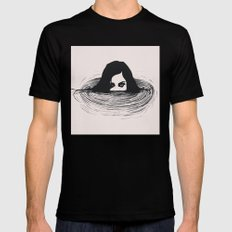 BLACK WATER Mens Fitted Tee X-LARGE Black