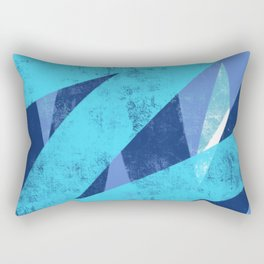 Paint Roller Blues Rectangular Pillow