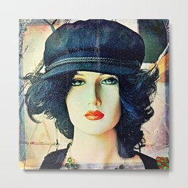 Get The Cool Chapeau Metal Print