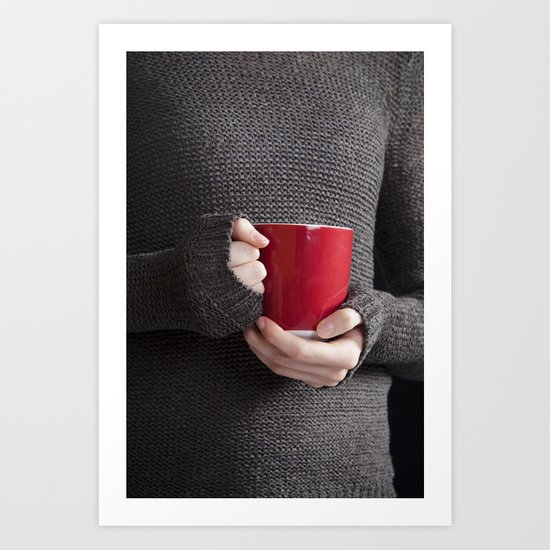 Hot Coffee Art Print