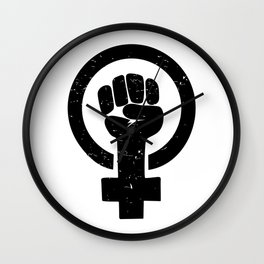 Feminist Raised Fist Wall Clock