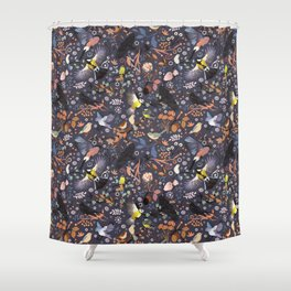 Tweet, tweet in the garden Shower Curtain
