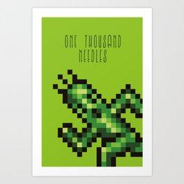 One Thousand Needles Art Print