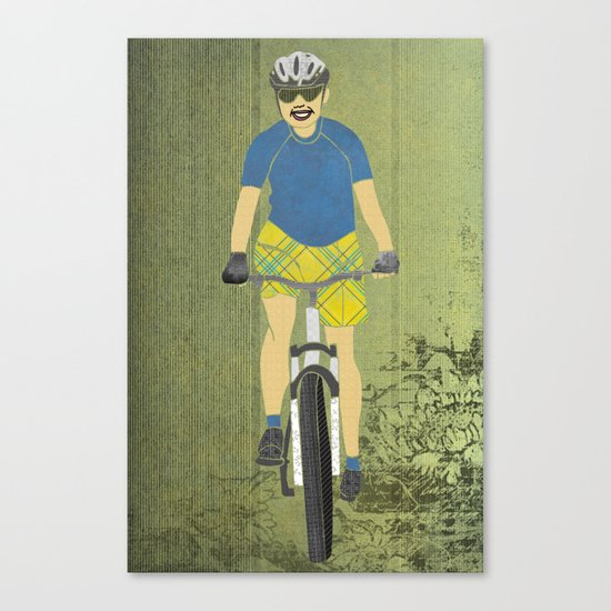 Bicycle Girl 2 Canvas Print