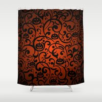 scary Shower Curtains featuring SCARY BAT by Acus