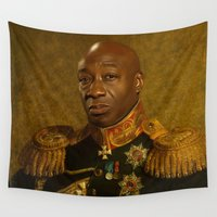 replaceface Wall Tapestries featuring Michael Clarke Duncan - replaceface by replaceface