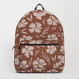 Seamless floral pattern from flowers and plants Backpack