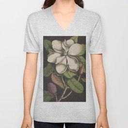 Dark Magnolia Unisex V-Neck
