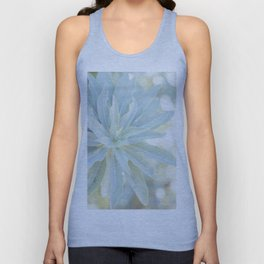 Mint Green Cactus succulent Cactus Flower Nature Floral Fine Art Wall Print Unisex Tank Top