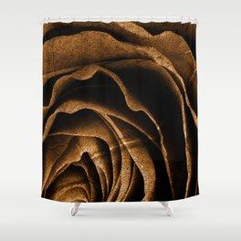 Sepia Grunge Rose Shower Curtain