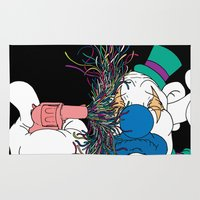clown Area & Throw Rugs featuring Clown by Baby Hates It