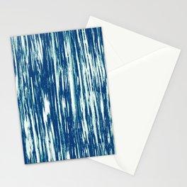 Ikat Streaks in Indigo Stationery Cards