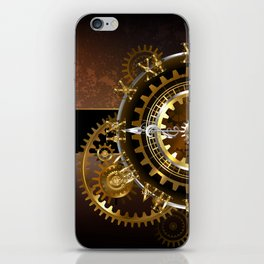 Steampunk Clock with Gears iPhone Skin