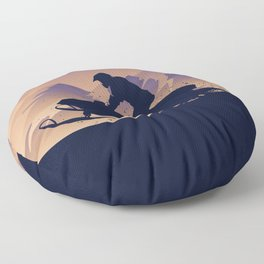 Snowmobile • My Passion Floor Pillow