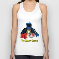 elmo Tank Tops featuring Too Many Cookies by Shawn Hall Design