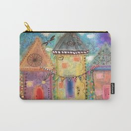 Pastel Houses  Carry-All Pouch