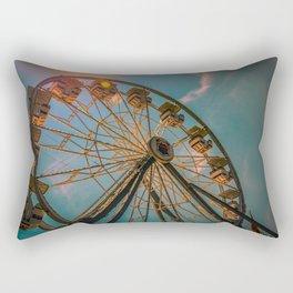 Ferris wheel on blue sky Rectangular Pillow