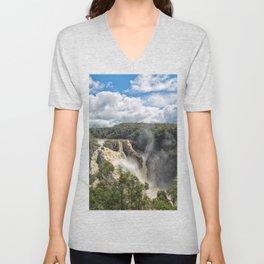 Beautiful Barron Falls Unisex V-Neck