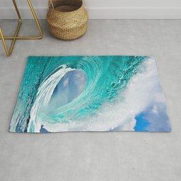 Wave Series Photograph No. 28 - Ocean Blue Rug
