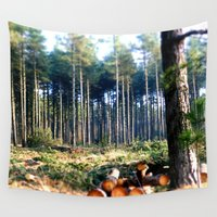 woods Wall Tapestries featuring Woods by madbiffymorghulis
