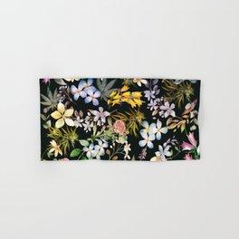 Flowers with Hidden Pot Leaves Hand & Bath Towel