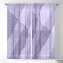 Ultra violet purple modern geometric lines Sheer Curtain