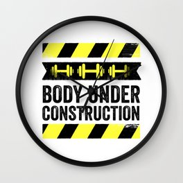 Body Under Construction Wall Clock