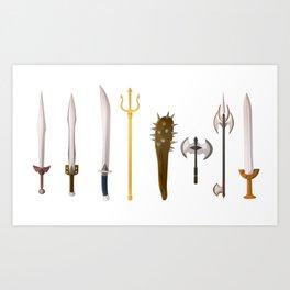 Tools of the trade Greek mythology Titans Clash Art Print