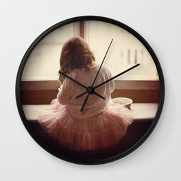the daily life of a ballerine Wall Clock