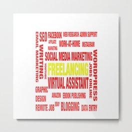 Online Jobs Design Metal Print
