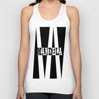 mandela Tank Tops featuring Mandela tribute by Brian Raggatt