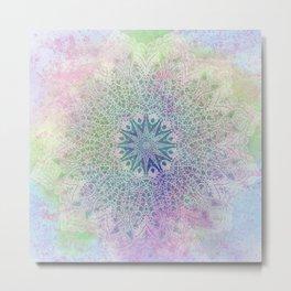 star mandala in rays of color Metal Print