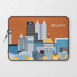 Atlanta, Georgia - Skyline Illustration by Loose Petals Laptop Sleeve
