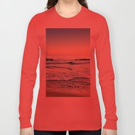 Serenity sea. Vintage. Square format Long Sleeve T-shirt