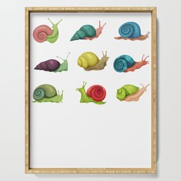 Snail Fun Colors Serving Tray