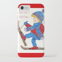 ski iPhone & iPod Cases featuring Ski Boy by iCraftCafé