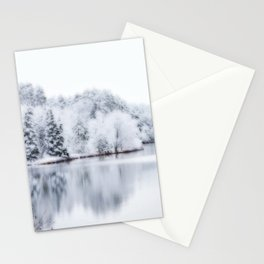 White Wonder Reflection Stationery Cards
