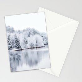 White Wonder Reflection Stationery Cards