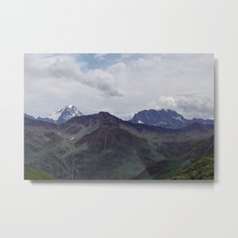 Alps Mountains Peaks Alpine landscape Metal Print