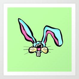 Rabbit - The Worried Bunny Art Print