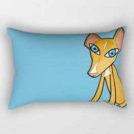 Pino, the Spanish hound dog Rectangular Pillow