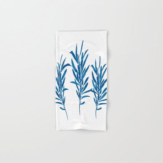 Eucalyptus Branches Blue Hand & Bath Towel