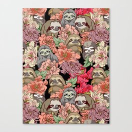Because Sloths Canvas Print
