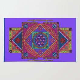 Just Another Roll of the Dice (Blue) Rug