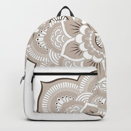 Beige & White Mandala Backpack