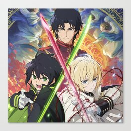 team mikaela, gurren, and yuu Canvas Print