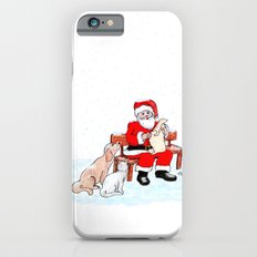 Merry Christmas - Santa Claus with Cat and Dog iPhone 6s Slim Case