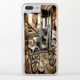 Vintage Horse Drawn Carriage Clear iPhone Case